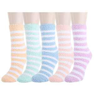 Womens Girls Funny Novelty Fuzzy Slipper Socks Cute Silly Plush Fluffy Soft Cozy Sleeping Socks Gift 4 Pairs,Cats