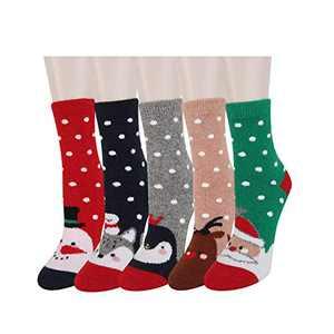 Benefeet Sox Womens Girls Funny Christmas Wool Soft Cartoon Novelty Crew Socks