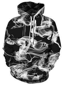 FLYILY Unisex 3D Print Hoodies Novetly Hoodies for Women Men 3D Prints Sweatshirts Pullover with Big Pocket