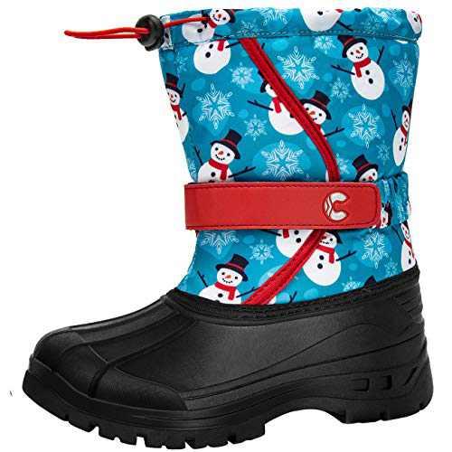 Crova Kids Snow Boots Boys Girls Womens Winter Warm Waterproof Outdoor Anti-Slip Fur Lined Resistant Cold Weather Shoes (Little Kid/Big Kid)