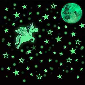 HORIECHALY Glow in The Dark Stars Stickers