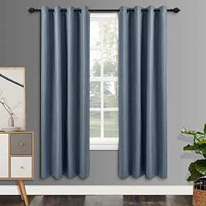 csoft Linen Blackout Curtain Thermal Insulated Energy Linen Texured Window Curtains(Valance) with Grommets top Darkening Drapes for Bedroom Living Room