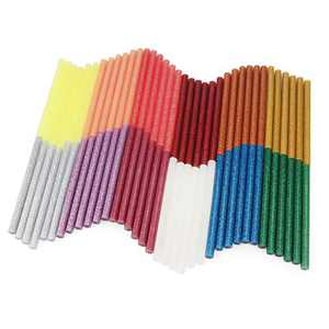 Colored Hot Glue Sticks Mini, Enpoint 3.93 x 0.27 in Glitter Glue Stick, EVA Adhesive Colorful Hot Melt Glue Sticks for DIY Art Craft, Sealing, General Repairs and Gluing Projects, 72 PCS, 12 Colors
