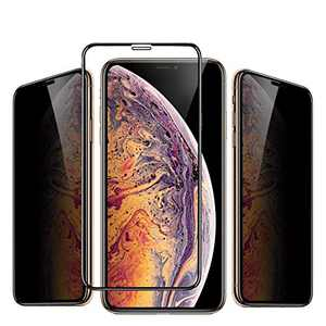 iPhone 11 Pro/X/XS Privacy Anti-Peep Screen Protector MOCOLL Ultra Slim 9H Full Coverage Anti Spy Tempered Glass Film Compatible for iPhone 11 Pro/X/XS(5.8inch)