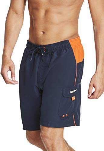Speedo Men's Swim Trunk Knee Length Marina Sport Volley,Peacoat,Medium