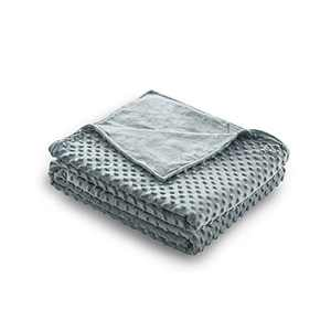 """Syrinx Duvet Cover 48""""x72"""" Grey for Queen Size Weighted Blanket"""