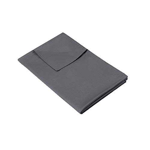 """Syrinx Removable Cover (48""""x72"""", Dark Grey) for Weighted Blanket Twin Size"""