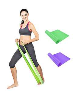 Qian Resistance Bands, Professional Exercise Elastic Bands, Long Natural Latex Elastic Bands, Perfect for Strength Training, at-Home Workouts,Physical Therapy, Rehab,Yoga, Pilates, Stretching