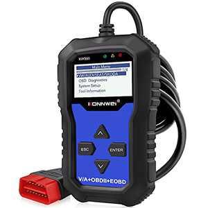KONNWEI KW350 Full System OBD2 Diagnostic Scanner for VW Audi Skoda Seat Code Reader Automotive Check Engine Light EPB ABS SRS OBDII Scan Tool Oil Throttle Position Adaption Brake Pad Reset Tool