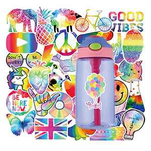 VSCO Girls Stickers, Skateboard Stickers for Water Bottle DIY Xmas Decoration Laptop Decals Gift Card Luggage Car Bicycle Music Film Guitar Travel Case Colorful 50Pack