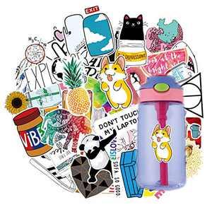 Stickers Pack Cute Aesthetic Viny Waterproof Stickers, Stickers for Water Bottles, Laptop, Water Bottle, Phone, Skateboard Stickers for Teens Girls Kids (46PCS)