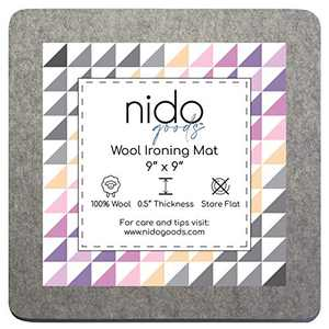 "9"" x 9"" Wool Ironing Mat - Authentic 100% New Zealand Wool Pressing Pad, Perfect for Quilting and More!…"