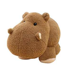 B-CREATOR Hippo Stuffed-Animals Hippopotamus Baby-Plush-Toy - (Brown, 16 inches) Cute Doll Cuddly Fluffy Plushies Figures Toys