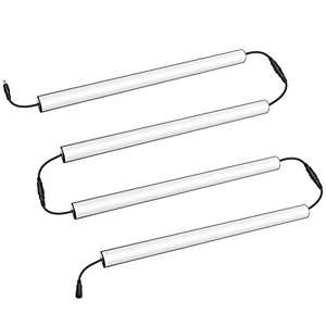LED Under Cabinet Light, Dimmable Under Counter Lighting Fixture for Kitchen, Closet, Shelves, Hallway, Power & Dimmer Switch Included, 13inch, Linkable, 5000K Pure White, V-Shape, 4 Pack