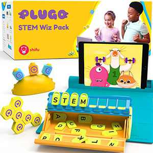 Plugo STEM Wiz Pack by PlayShifu - Count, Letters & Link Kits | Math, Words, Magnetic Blocks, Puzzles & Games | Ages 4-10 Years STEM Toys | Educational Gift Boys & Girls (App Based)