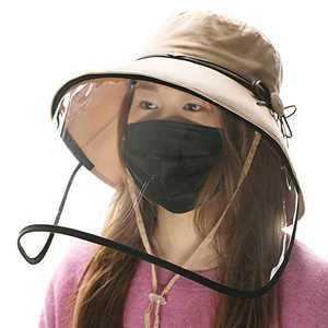 Jeff & Aimy Womens UPF 50 Cotton UV Sun Hats Ponytail Packable Wide Brim Gardening Bucket Hat Chin Strap (Medium, 69046-Khaki)