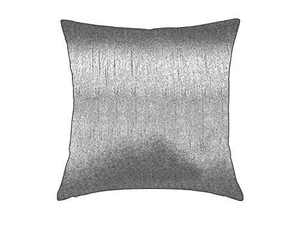 Essencea Faux Silk Throw Pillow Cover Square Solid Color Decorative Soft Shiny Pillowcase/Sham with Sturdy Hidden Zipper for Sofa | Bedroom | Living Room | Car (22x22 Inches, Silver)