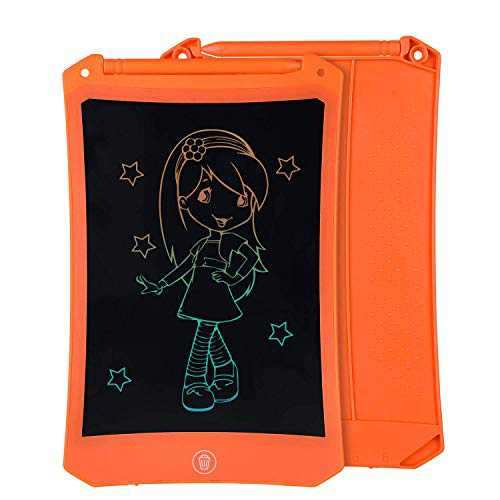 """LCD Drawing & Writing Tablet Ewriter Pad Dry Erase White Board Graffiti Toy for Kids Toddlers Children & Adult, Daily to Do List Notepad for Home Office & Car LCD876-8.5"""" Color Orange with Stylus"""
