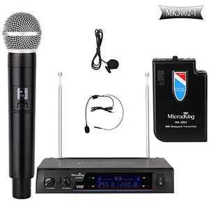 MicrocKing Wireless Microphone System Dynamic Handheld Microphones,Ideal for Karaoke, Party, DJ, Church, Wedding, Indoor/Outdoor Activities