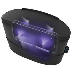 HoMedics UV Clean Sanitizer Bag Portable UV Light Sanitizer, Fast Germ Sanitizer for Cell Phone, Makeup Tools, Credit Card, Keys, Glasses, Kills 99.9% of Bacteria & Viruses, Black
