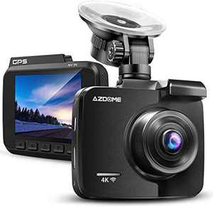 AZDOME UHD 4K Dash Cam 2160P, GPS WiFi Dashboard Car Camera DVR Recorder with G Sensor, WDR,170° Wide Angle, Night Vision, Loop Recording, Parking Monitor, Support 128GB Max