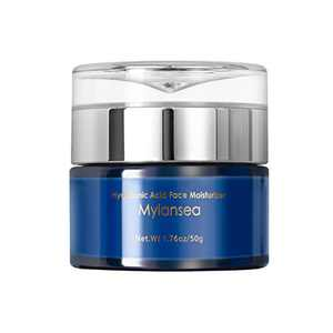 Face Cream with Hyaluronic Acid, Mylansea Face Moisturizer with Vitamin E for Lasting Hydrating, Smoothing your skin and Repairing Various Problems caused by Lack of Water, 50g