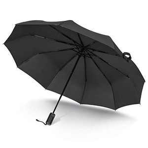 asika Saiveina Folding umbrella,Windproof Travel Golf Umbrella,Auto Open Close Lightweight Sun&Rain Umbrella with Teflon Coating,10 Rib Construction,Zipper Pouch
