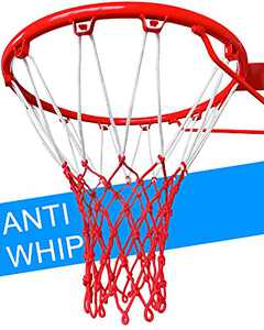 LEADTEAM Heavy Duty Basketball Net,Basketball Net Replacement,Professional Basketball Net Outdoor,All Weather Anti Whip Basketball Hoop Net for 12 Loops of Indoor and Outdoor Rims