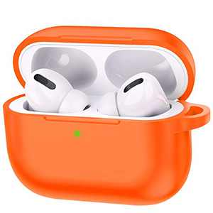 Airpods Case 2019 Third gen, Accessories Shockproof Case Cover Portable & Protective Silicone Skin Cover Case for Apple Airpods Charging Case (Orange)