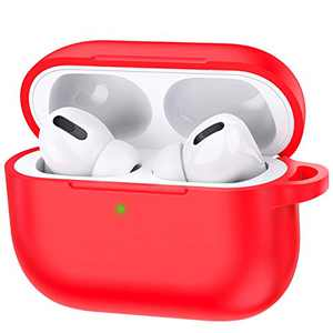 Airpods Case 2019 Third gen, Accessories Shockproof Case Cover Portable & Protective Silicone Skin Cover Case for Apple Airpods Charging Case (Red)