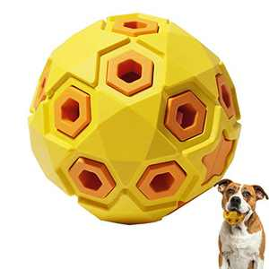 Mewajump Dog Ball Toys Puppy Chew Toys Rubber Dog Ball Interactive Dog Toys, Durable Dog Toys for Small &Medium Dogs, Floating Bouncing Dog Bell Ball for Fetch Game and Outdoor Play