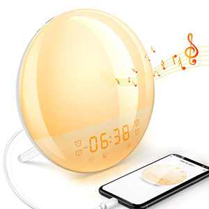 Sunrise Alarm Clock for Bedroom Dekala Smart Digital Alarm Clock for Heavy Sleepers Kids Radio Wake Up Light Sleep Aid Sunset Simulation 20 Brightness Dawn Simulator 7 Natural Sound Night Light Snooze