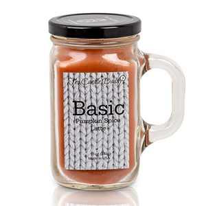 Basic- Fun and Funny - 10 oz Mason jar Candle- Pumpkin Spice Latte Fall Halloween Candle- Made in USA