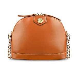 Cute Crossbody Bag with Golden Chain Strap Small Shoulder Bag Cell Phone Purse for Women Girls (Brown)