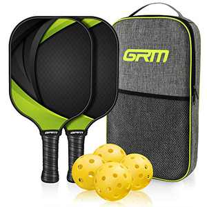 GRM Racket, 2 Racket and 4 Balls Including Portable Carry Bag