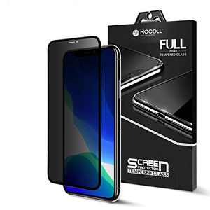iPhone 11 Pro Max/XS MAX Privacy Anti-Peep Screen Protector MOCOLL Ultra Slim 9H Full Coverage Anti Spy Tempered Glass Film Compatible for iPhone 11 Pro Max/XS MAX(6.5inch)