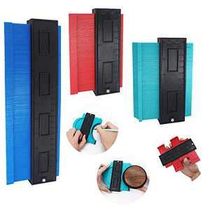 Nicheo 3 Pieces Contour Gauge Multi-functional Shape Contour Duplications Gauge for Precise Measurement Wood Marking Tool