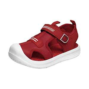DREAM PAIRS Toddler Boys Girls Outdoor Summer Sports Sandals Water Shoes Red Size 11 M US Little Kid NEWPORT-1K