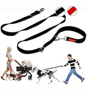 Flipleash Big Dog Leash Hands Free or Handheld Convertible Black Large Comfortable