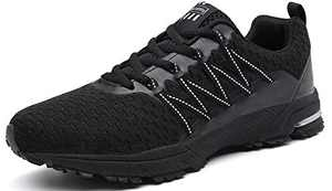UBFEN Womens Running Shoes Fashion Sneakers Sports Casual Footwear Walking Fitness Jogging Athletic Indoor Outdoor 6 Women / 5.5 Men US B Black