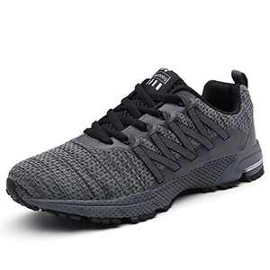 UBFEN Womens Running Shoes Fashion Sneakers Sports Casual Footwear Walking Fitness Jogging Athletic Indoor Outdoor 6 Women / 5.5 Men US B Grey