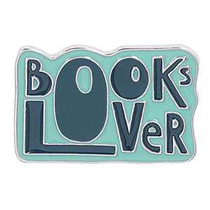 Enamel Pin Brooch Badges for Clothes Bag Lapel Books Lover