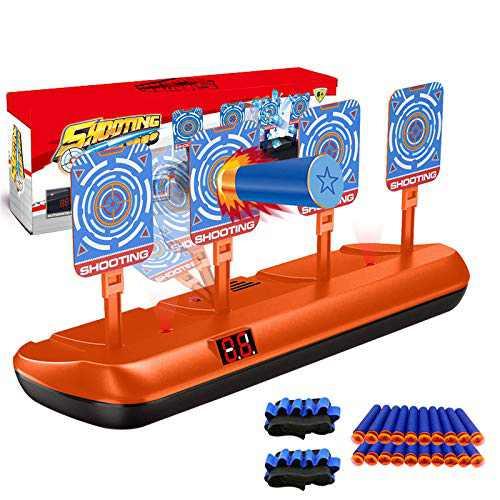 Fibevon Targets for Nerf Guns, Electric Shooting Target Scoring Auto Reset Targets Toys for Nerf Blaster Elite/Mega/Rival Serie, Ideal Gift Toy for Kids, Teens, Boys & Girls