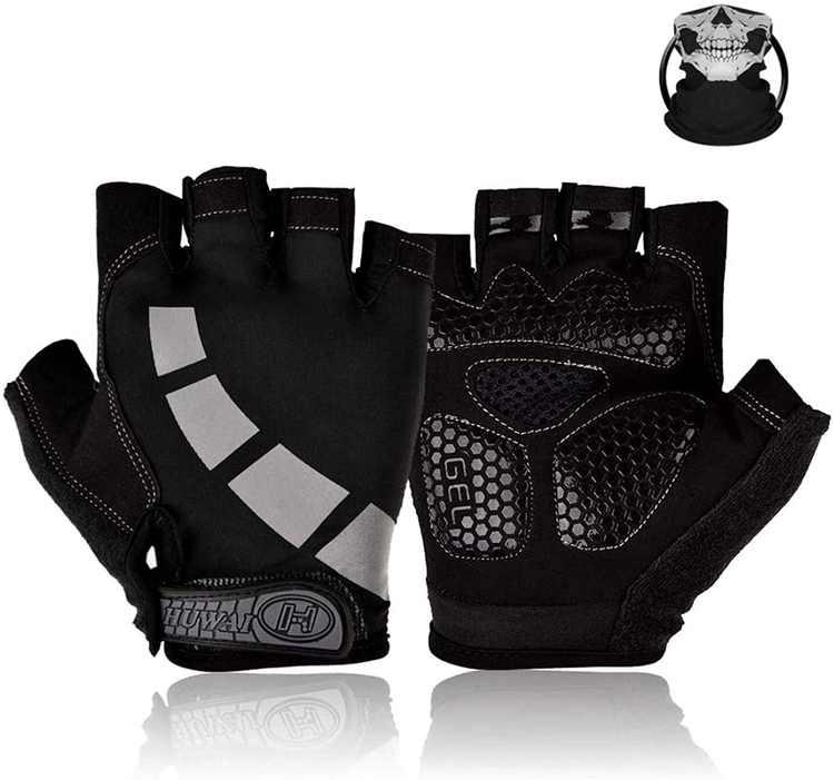 Nesirooh Cycling Gloves, Bike Gloves Half Finger for Men and Women Gel Mountain Road Bike Gloves for MTB Gym Riding Running