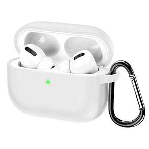 KWQ Compatible for Airpods Pro Case Cover 2019, [Front LED Visible] [Shock Proof] Soft Silicone Protective Cover for Apple Airpods 3 (White) …