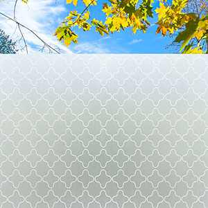 Coavas Window Film Privacy Window Paper Frosted Window Stickers Non-Adhesive Static Glass Window Blinds for Bedroom Bathroom Living Room Office 44.5x200CM (17.7 by 78.7 inches)