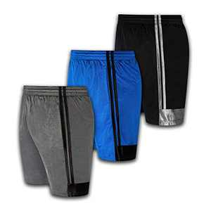 Boys Premium Active Athletic Performance Shorts with Pockets - 3 Pack