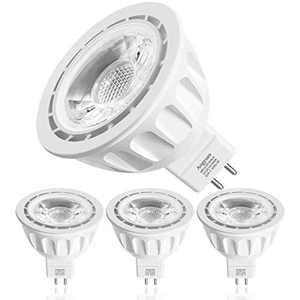 MR16 LED Bulb 50W Equivalent Halogen Bulb AC/DC 12V LED Spotlight for Indoor/Outdoor Landscape Track Light Bulb GU5.3 Base 5W Daylight White 5000K Not-Dimmable 4 Pack