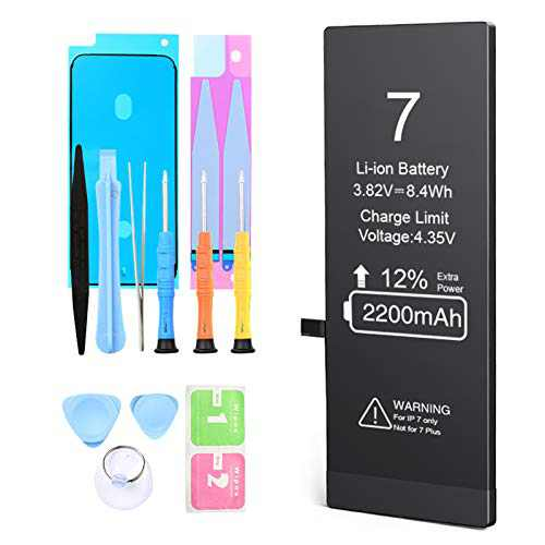 Battery for iPhone 7,2200mAh High Capacity New 0 Cycle Replacement Battery,Model A1660,A1778,A1779,with Complete Professional Replacement Tool Kits