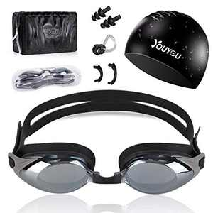 HAISSKY Swim Goggles, swimming Goggles Set No leaking Anti Fog UV Protection Swimming Goggles Triathlon for for Adults, Men, Women, Youth, Child and Kids